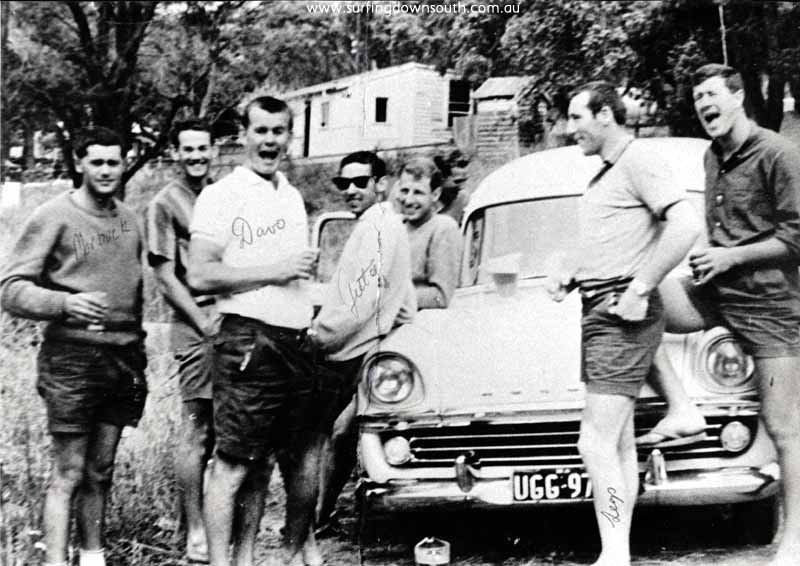 1958 Yalls Caves House D Gaines, A Hamer, D Williams, B Keenan ,R Evans, K Merifield & T Williams B Cole IMG