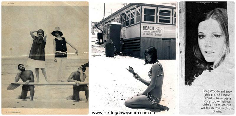 1960s models, Brian Cole, Gayle Franks, Eleanor Proud collage_photocat