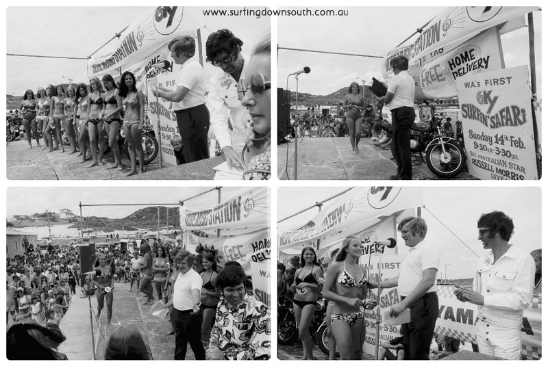 1970s Surfin Surfari beach girl contest trigg collage_photocat