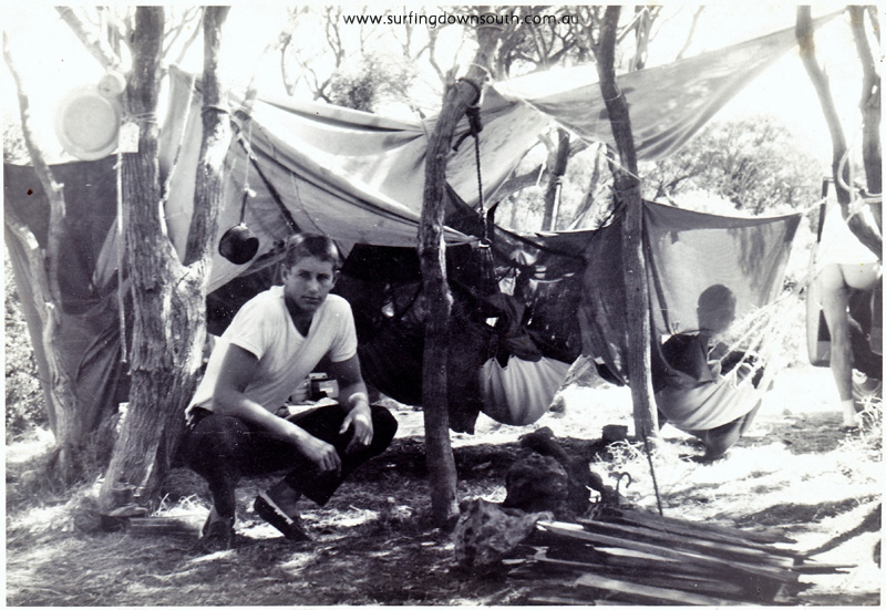 1960 Yalls camping under melaleucas James 'Lik' Mackenzie (14) & Murray Smith in hammock - Lik IMG_0001