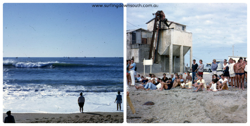 1963 France La Barre line-up & the mob on beach - Brian Cole collage_photocat (1)