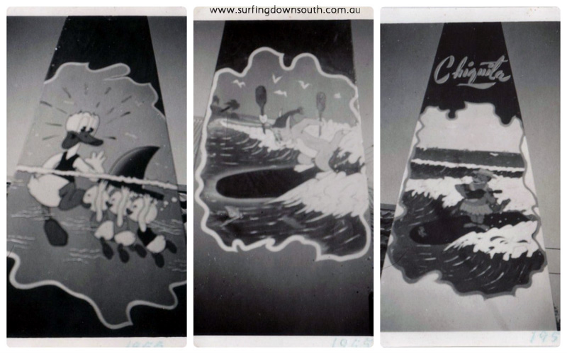 1954-55 Ray Geary surf art #4 collage_photocat