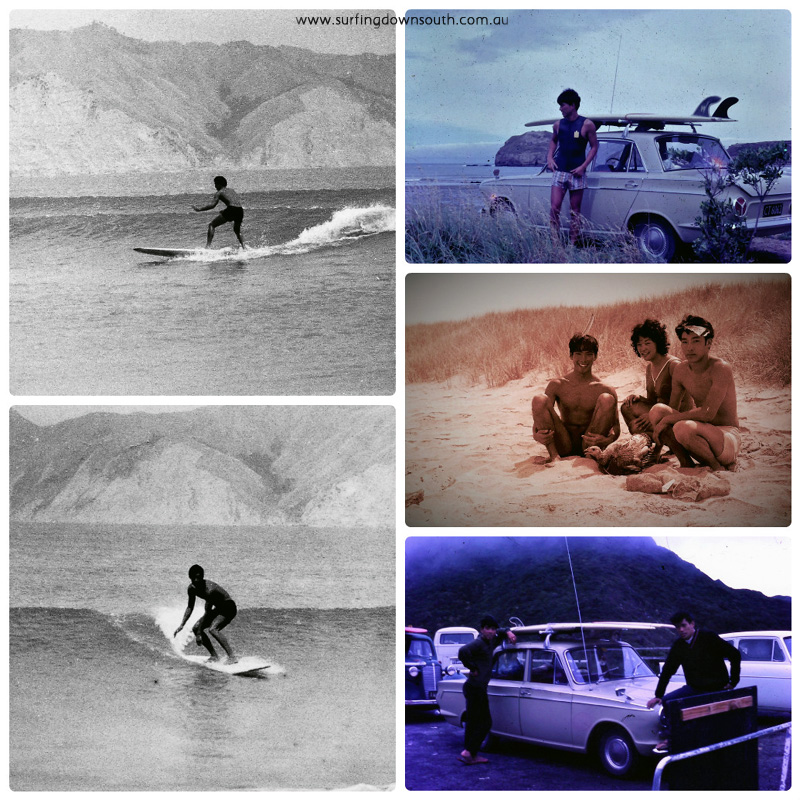 1960s Ric Chan surfing NZ 2 collage_photocat