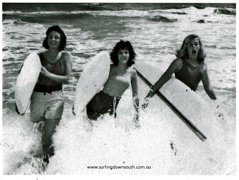 1963 Cottesloe Tina Daly, Jeanne Abbott & Stef Meyer - WA Newspaper pic IMG_001
