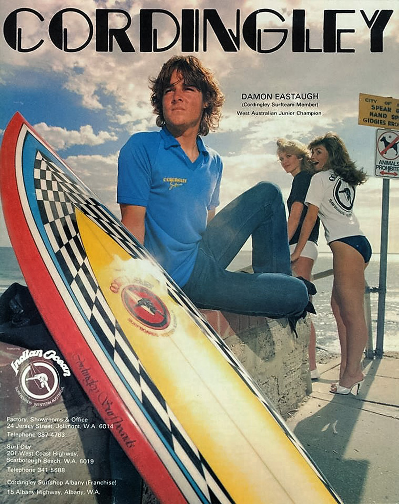 1980s West Coast Surfer Mag Damon Eastaugh at Toms (28a)