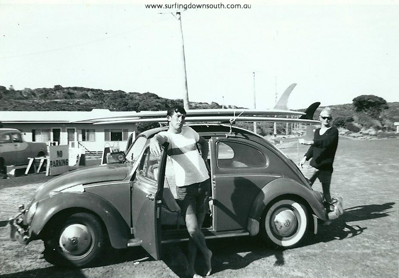 1967 Yalls Buttsy and Choko with VW in car park