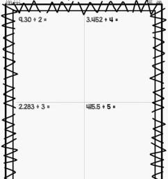 Free Dividing Decimals Worksheets - Surfing to Success [ 1024 x 768 Pixel ]