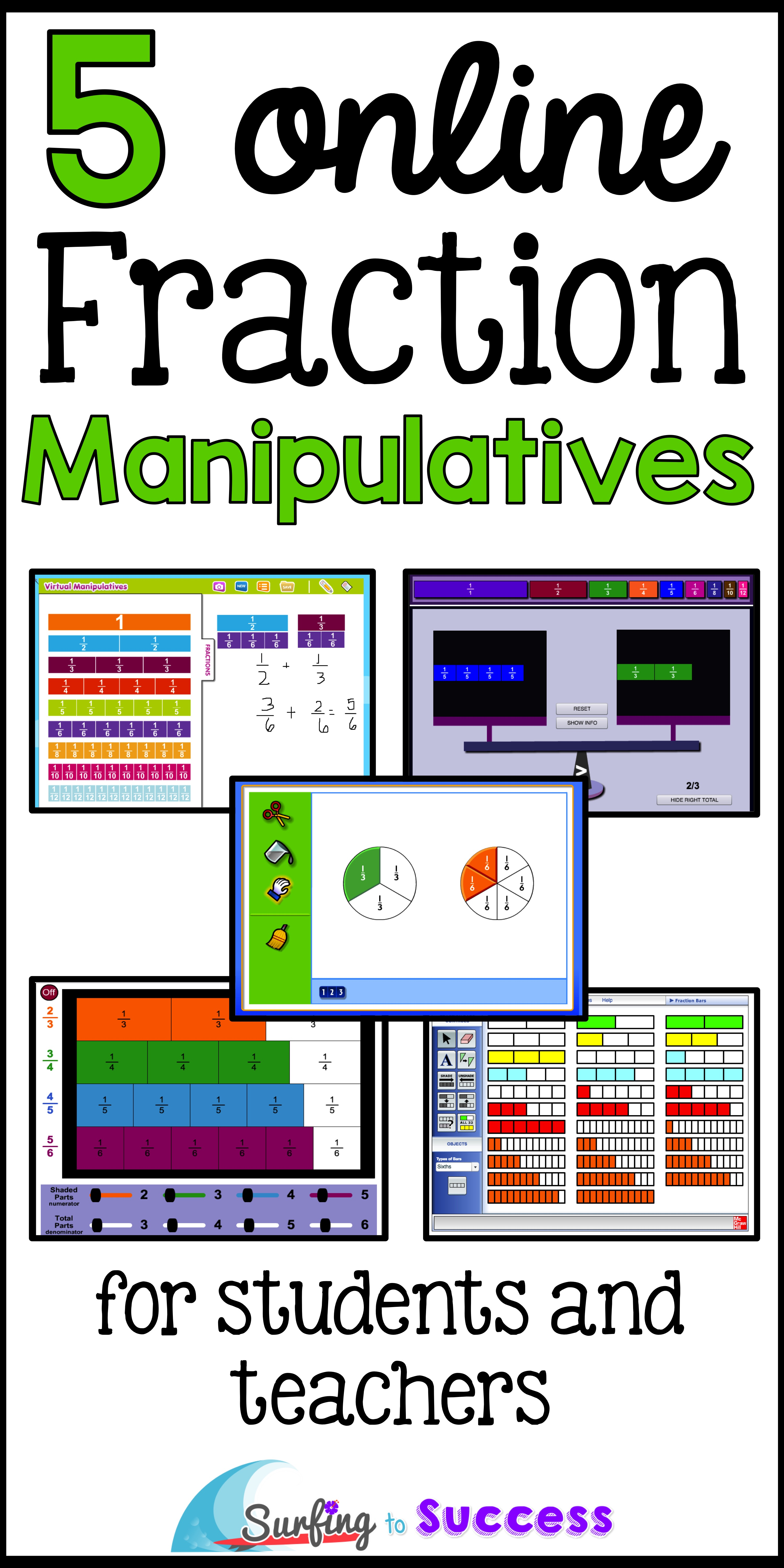 photo regarding Fraction Manipulatives Printable known as 5 On-line Portion Manipulatives - Browsing in the direction of Results