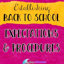 Getting ready to head back to school? Establishing clear expectations and procedures will lay the foundation for a calm productive year. Start your year with strong classroom management. Get your free list of classroom procedures. Use these digital anchor charts to prepare for Back to School. #backtoschool