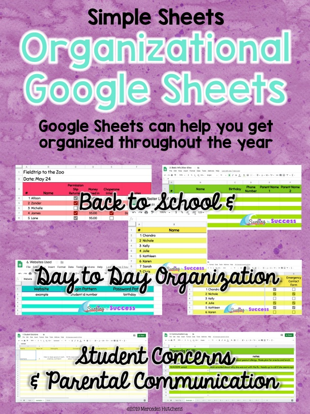 Simple Sheets Organizational Google Sheets