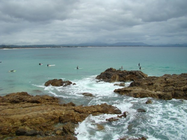 surf en Byron Bay, the point