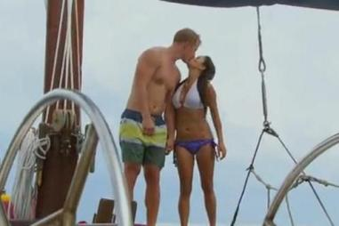 Catherine and Sean on boat