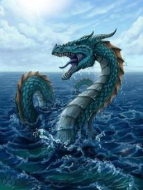sea serpent in water