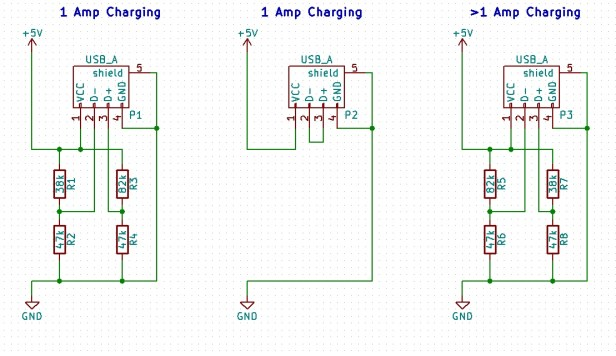Iphone and Ipad Charging Schematics