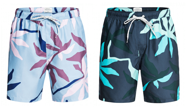 gully floral quiksilver boardshort volley