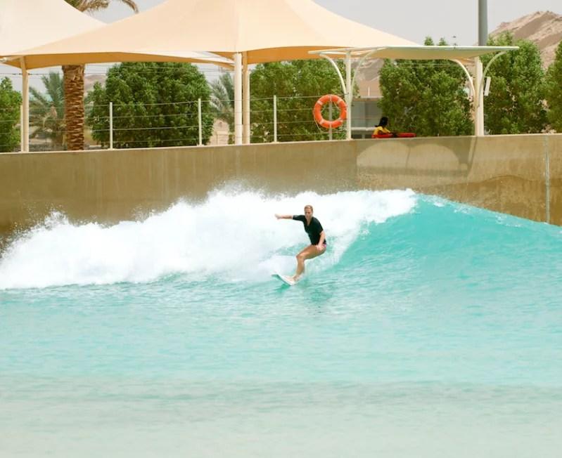 Donna Masing Wadi Adventure Surf Pool Al Ain UAE Learn to Surf
