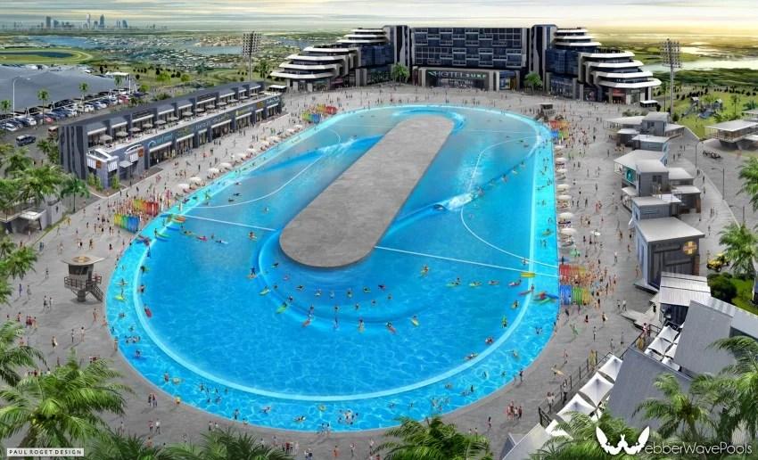 Greg Webber Looped Linear Concept Rendering | Surf Park Central