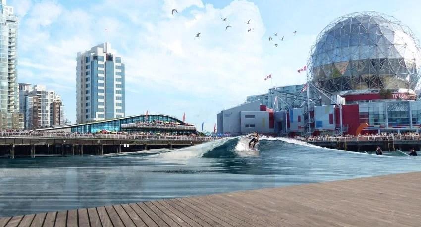 CitySurf Vancouver Deck View | Surf Park Central