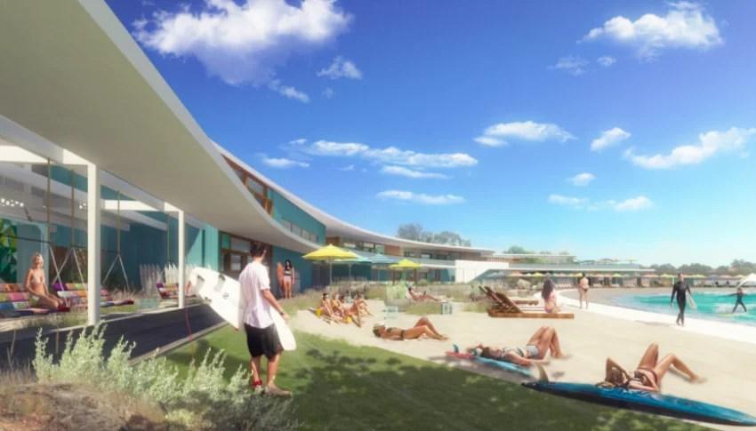URBNSURF Perth Beach Scene | Surf Park Central