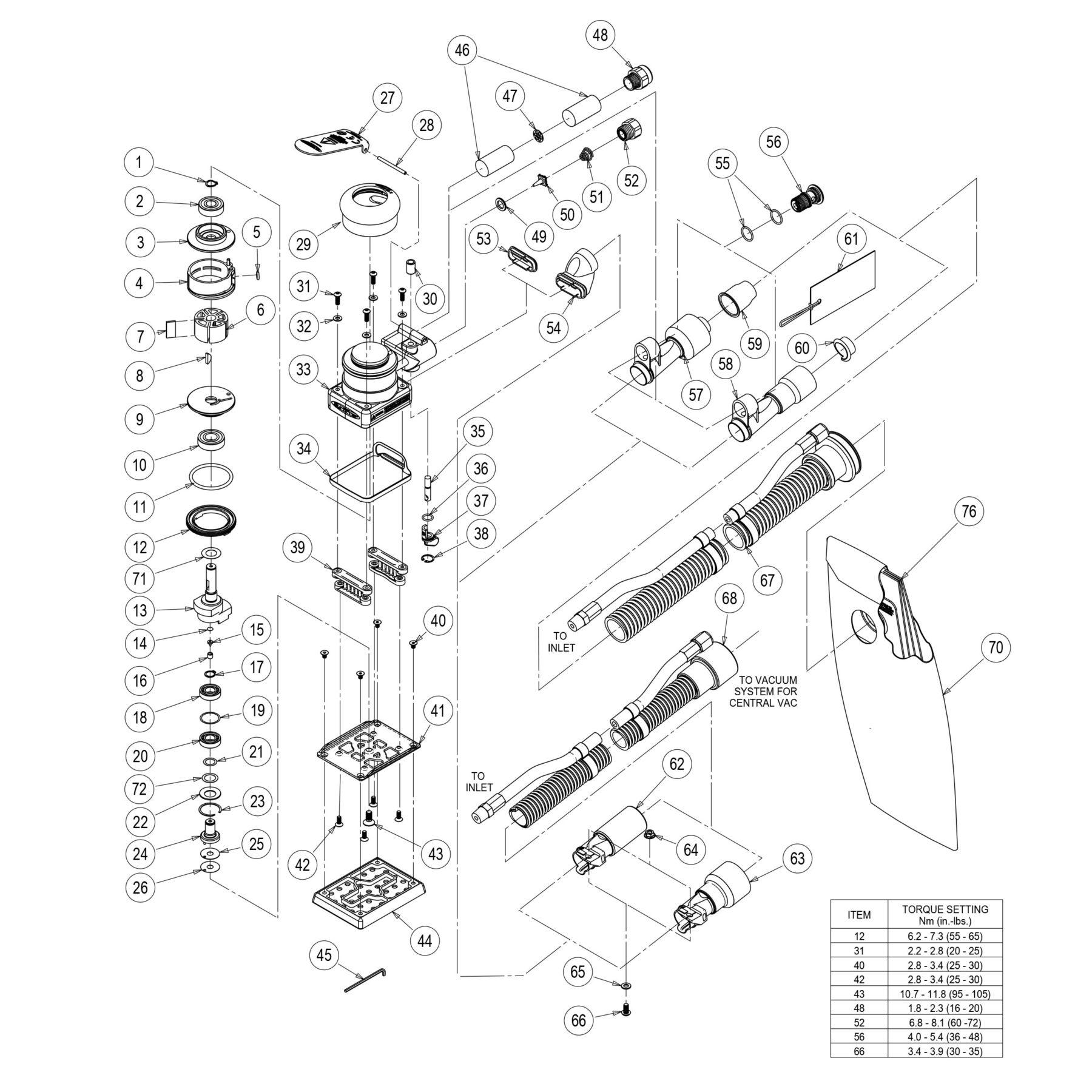 3 X 4 Storm Air Sander Tool Parts Surfprep