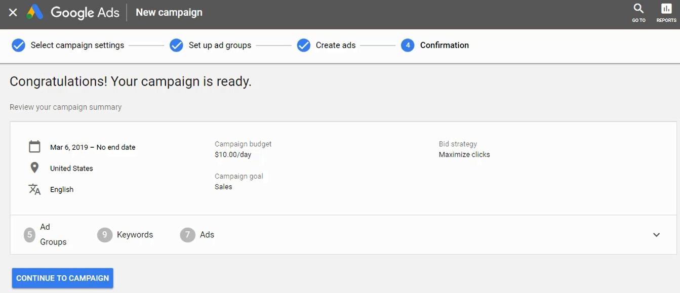 lancia la tua campagna di annunci google
