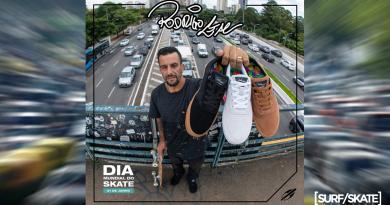 Dia Mundial do Skate com Mormaii no pé