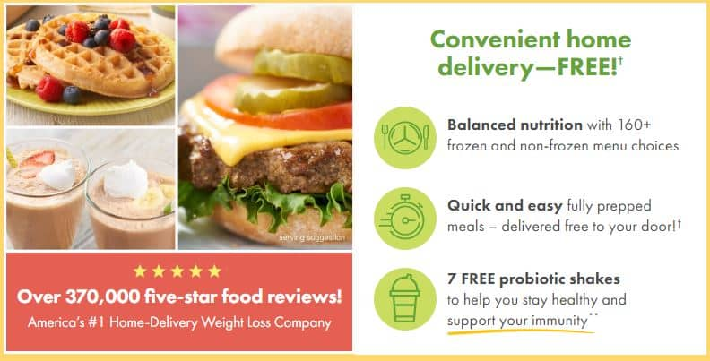 Nutrisystem Home Delivery Diet Food