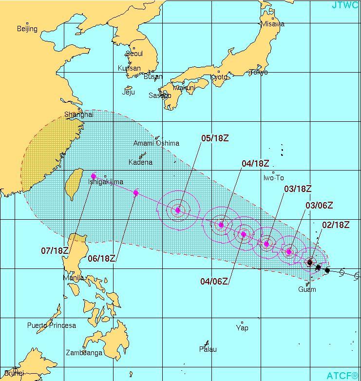 台風13号ソウデロア