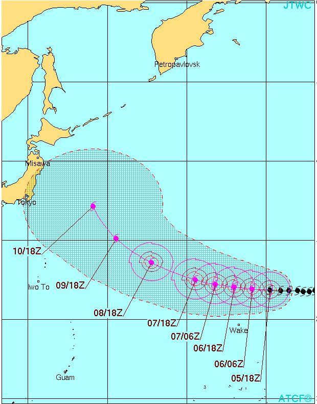 台風17号キロの進路