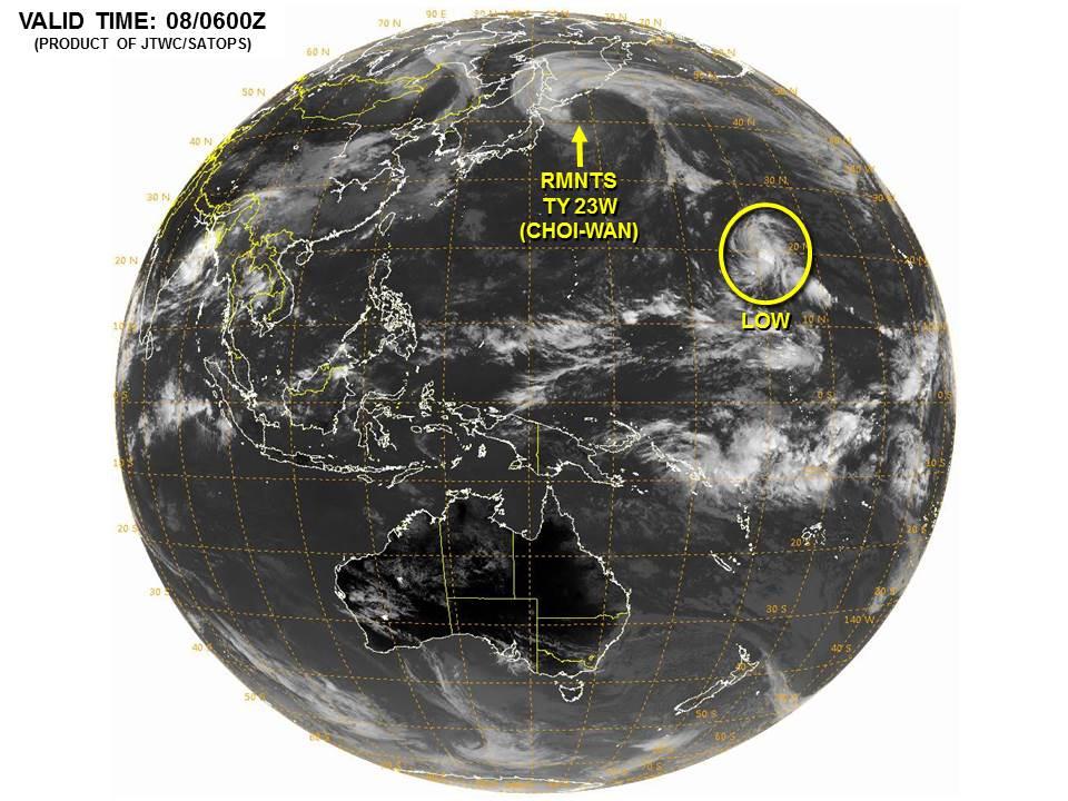 台風24号コップの進路