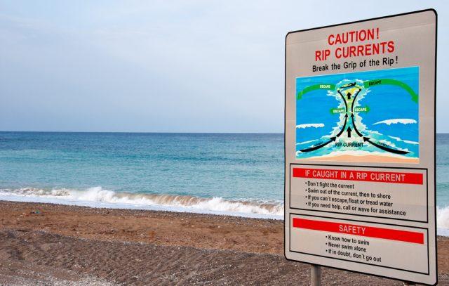 離岸流に注意