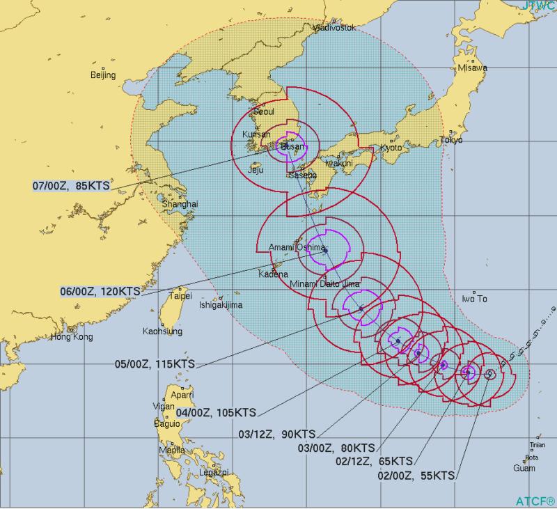 台風10号ハイシェン