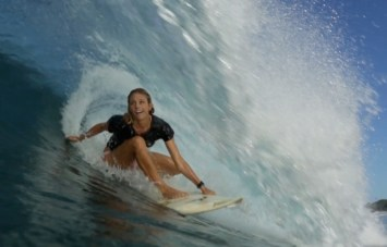tube riding, clinic, retreat, advanced shortboarding, surf coaching, costa rica, holly beck, surf with amigas