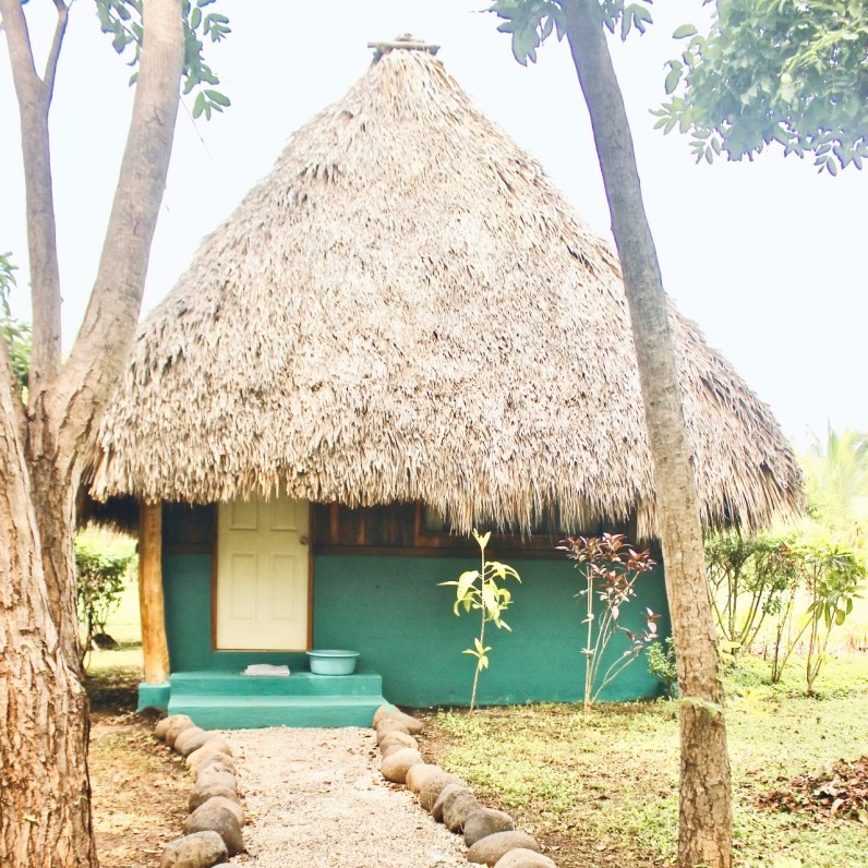 Cute thatched-roof cabana