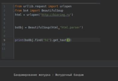 Парсинг сайта Bioring.ru на Python