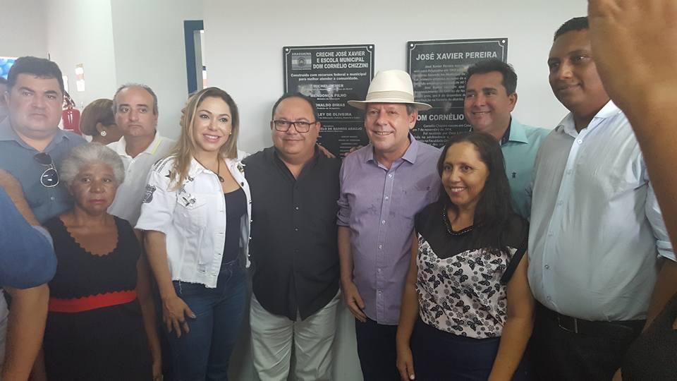 Com Ronaldo Dimas, Luana participa da entrega de creche/escola no distrito de Novo Horizonte