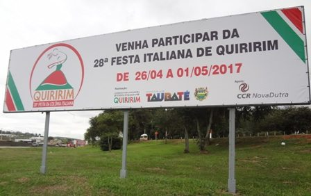 CCR NovaDutra apoia a 28ª Festa da Colônia Italiana de Quiririm, no Vale do Paraíba