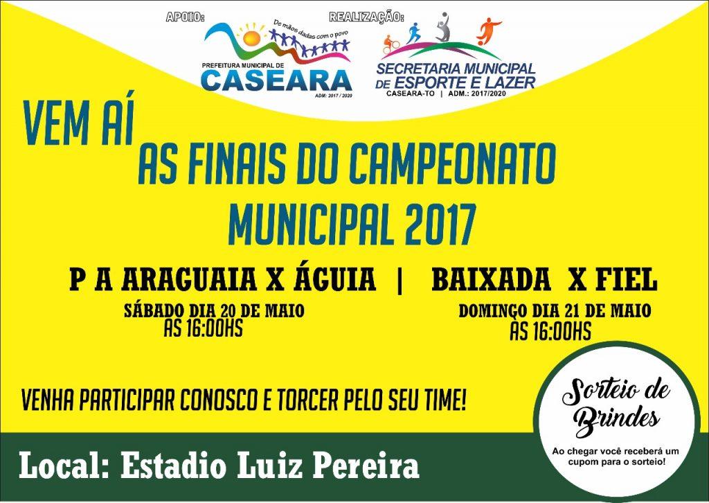 Campeonato Municipal Futebol de Caseara chega à fase final