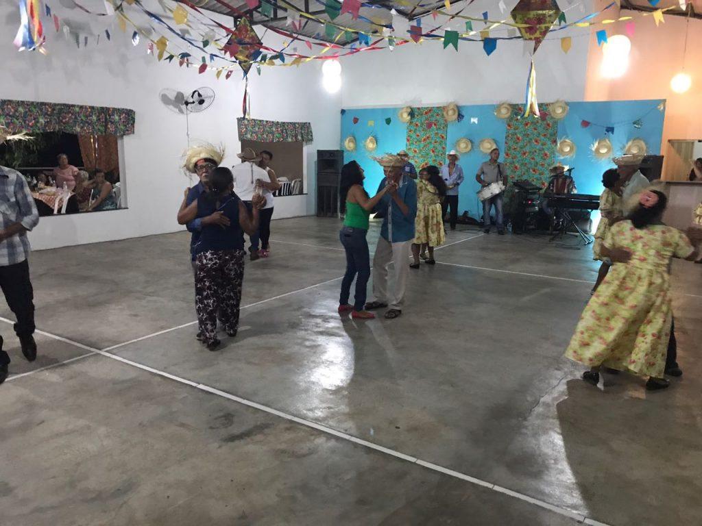 Arraiá da Melhor Idade reúne idosos atendidos pelo Serviço Convivência e Fortalecimento de Vínculos-SCFV de Lagoa da Confusão-TO.
