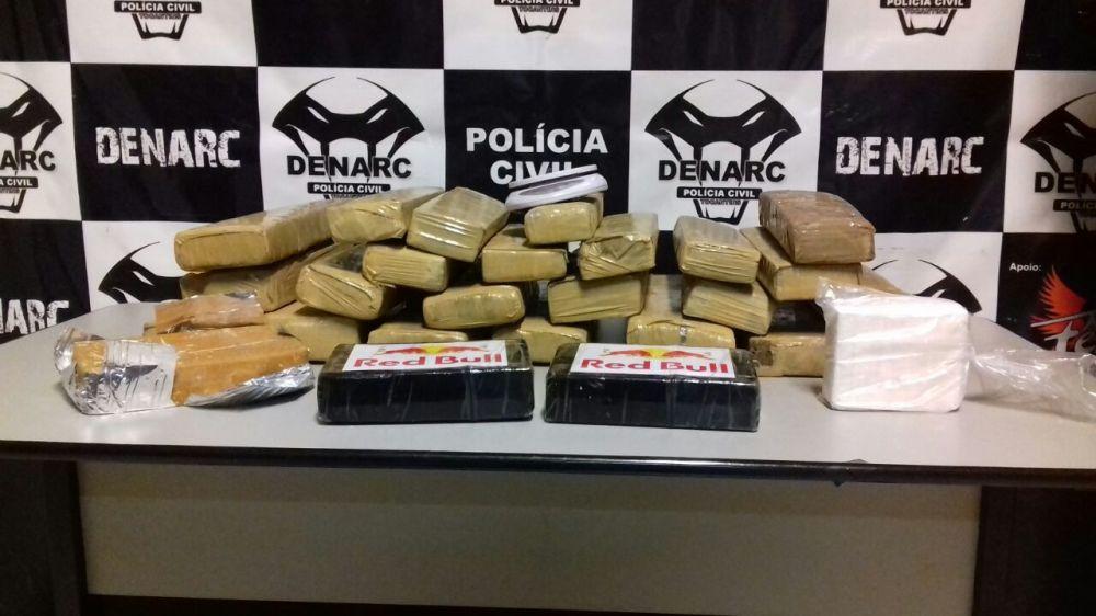 Mais de 30 kg de drogas são apreendidos pela Polícia Civil em Palmas