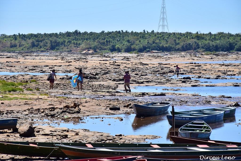 Novamente a cena se repete e nível do Rio Tocantins fica abaixo do normal, em Tocantinópolis