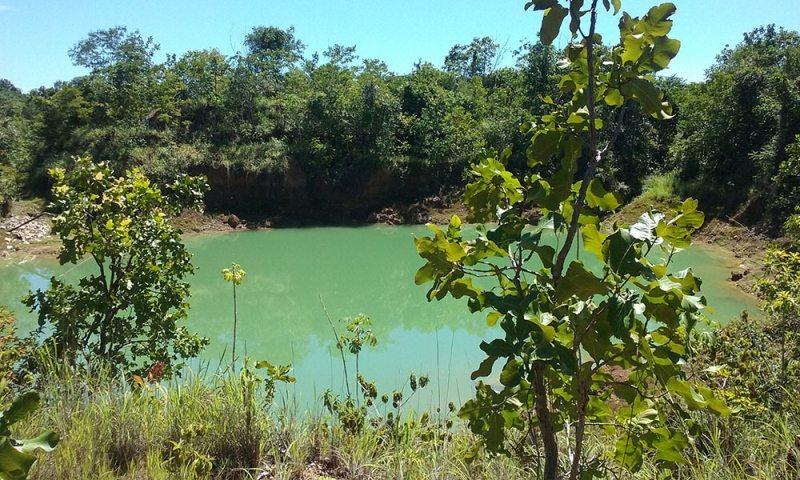 Lagoa em antigo garimpo pode resolver problema da falta de água em Pium