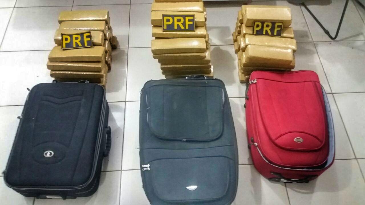 PRF retira de circulação mais de 80 kg de maconha