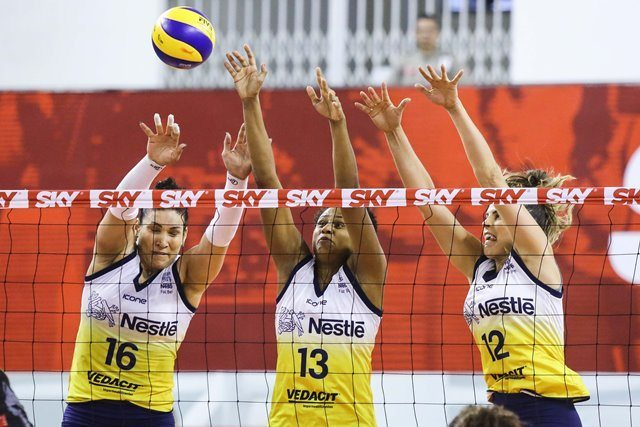 Vôlei Nestlé enfrenta Hinode Barueri nesta sexta-feira (15) pela Copa do Brasil