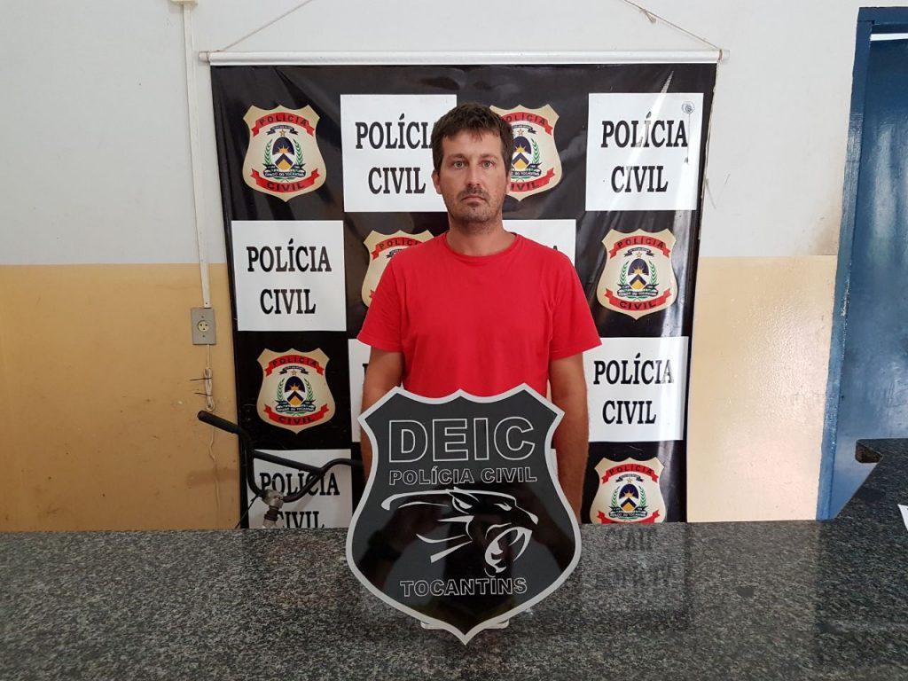 Polícia Civil prende suspeito de envolvimento com o tráfico de drogas em Dueré TO