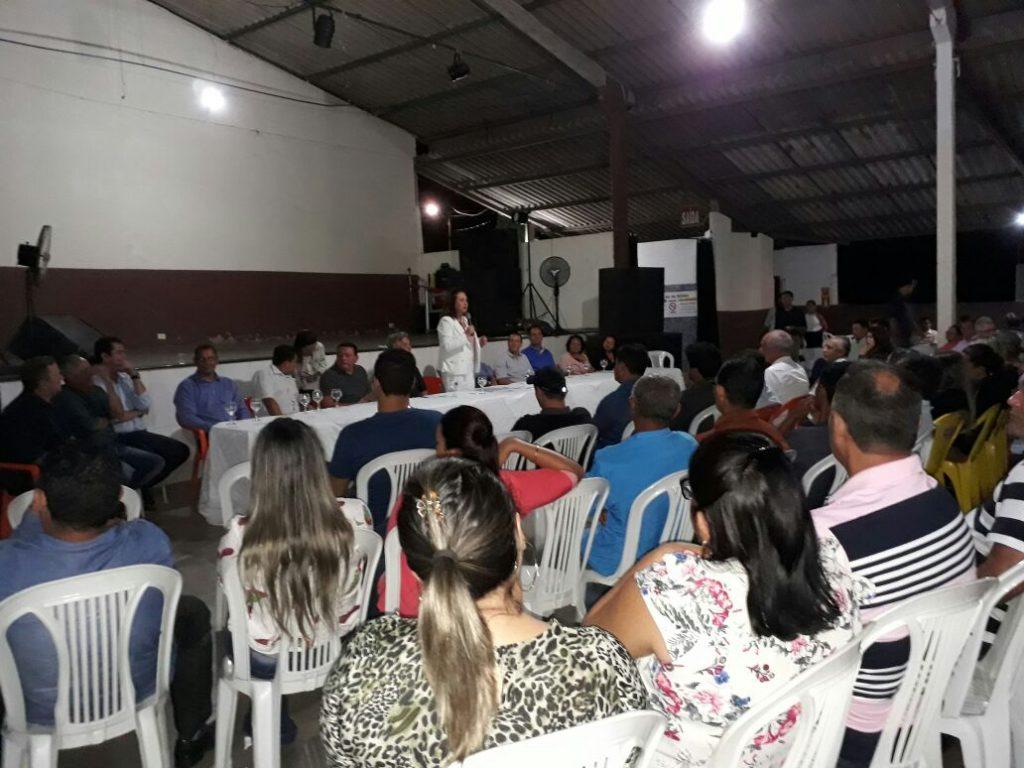 Senadora Kátia Abreu condena números sobre pobreza do Tocantins, em evento de lideranças políticas em Guaraí