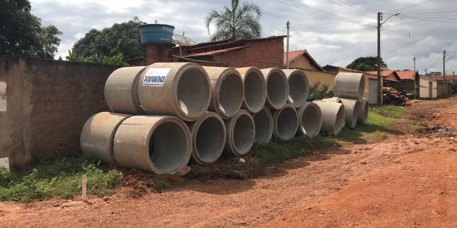 Prefeitura inicia obra de captação de águas pluviais em torno do córrego paca