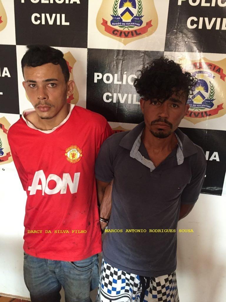 Suspeitos por tráfico de drogas são presos pela Polícia Civil em Araguaína