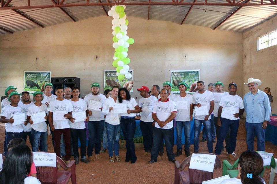 Presidente da FAET/ SENAR, Kátia Abreu, participou da certificação de alunos do SENAR