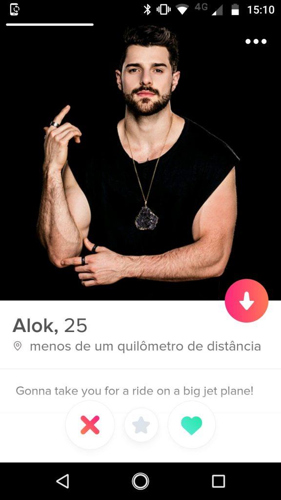 Alok está no Tinder